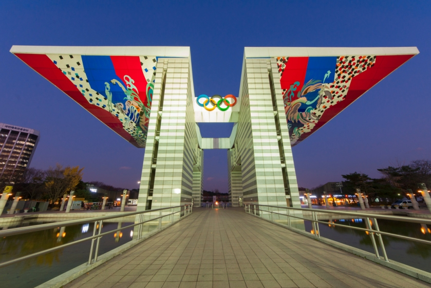 Blue Hour Olympic Gate