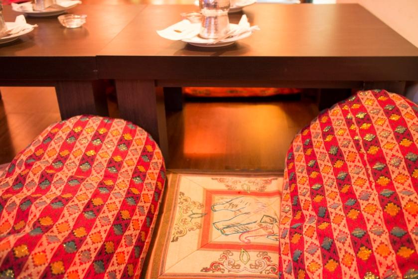 Yeti Indian Restaurant cushions