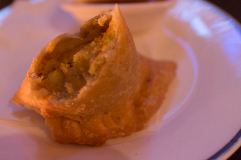 Yeti Indian Restaurant Samosa Inside