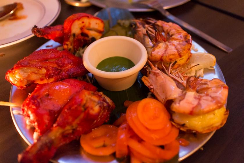 Yeti Indian Restaurant Tandoori Chicken and Prawns