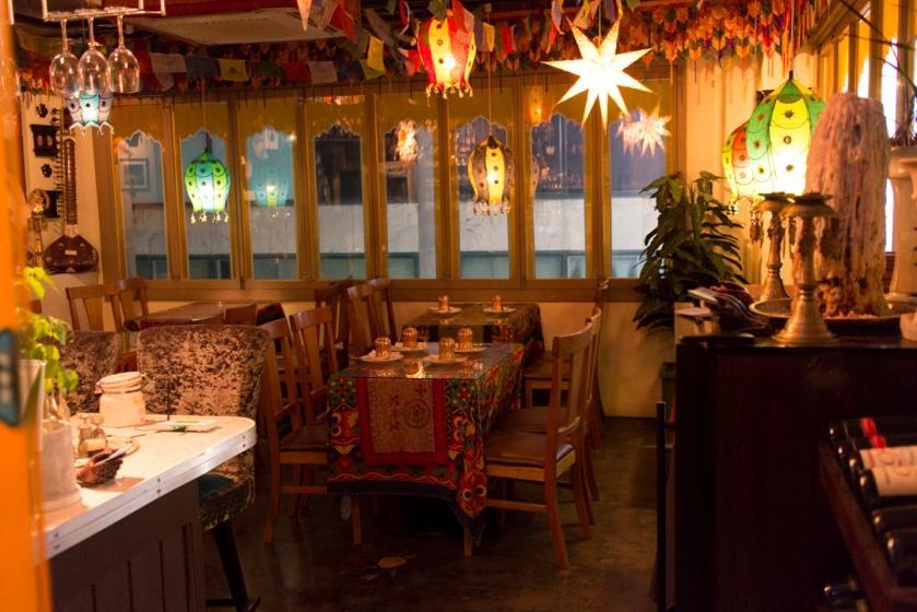 Yeti Indian Restaurant Seated Area