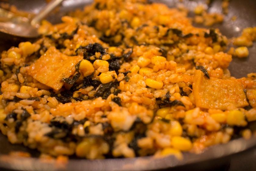 호야즉석떡볶이 corn fried rice 옥수수 볶음밥