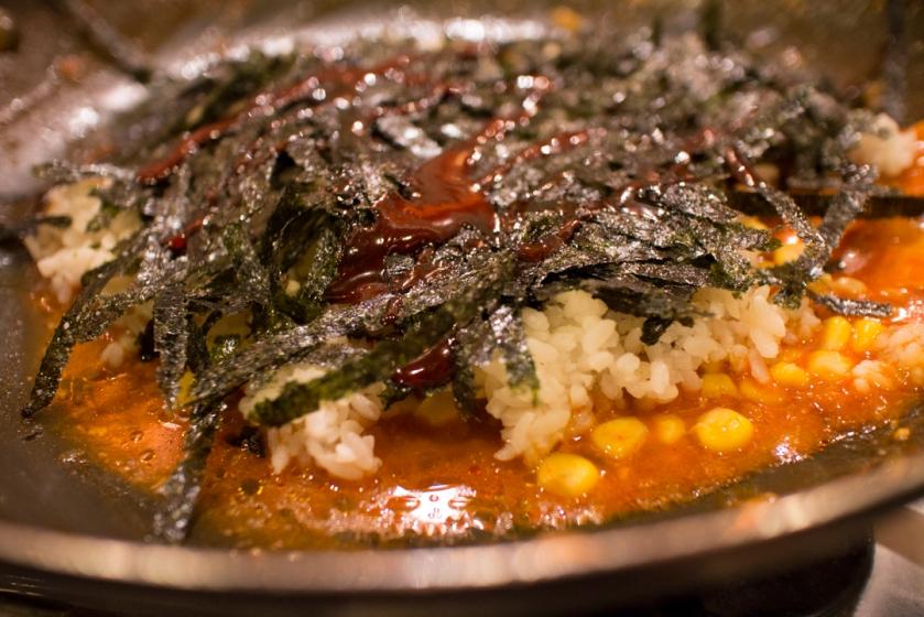 호야즉석떡볶이 corn friend rice