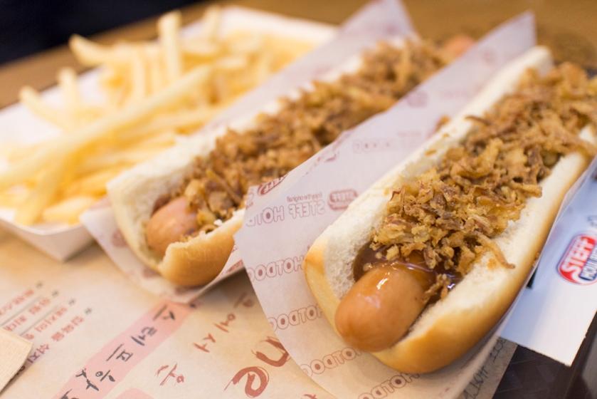 Steff Houlberg Hotdog 스테프 핫도그 Bulgogi dogs and Fries 불고기 픠레인 감자 튀김
