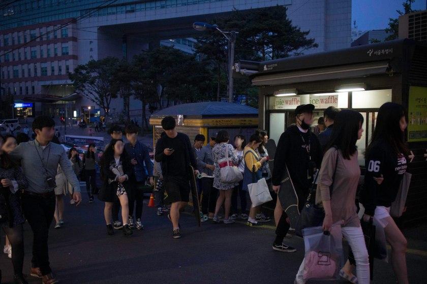 Hongdae Ice Cream Waffle Shack