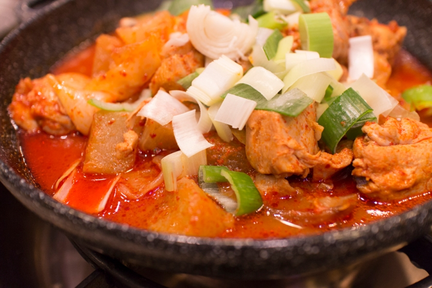 Masan Agujjim 마산아구찜 Stir fry spicy chicken 닭볶음탕 general view
