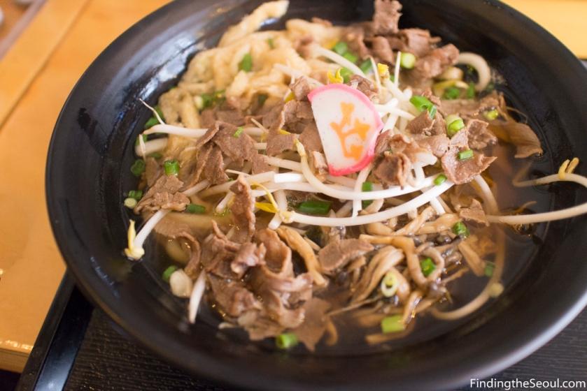 돈텐동식당 Dontendong Shikdang 규니꾸우동 Gyuniku beef udon set