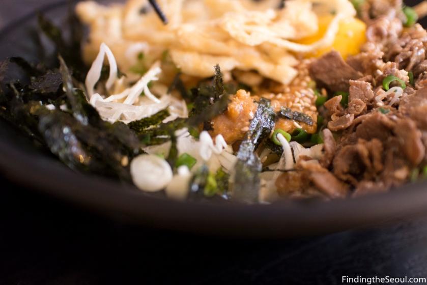 돈텐동식당 Dontendong Shikdang Kara Miso udong close up