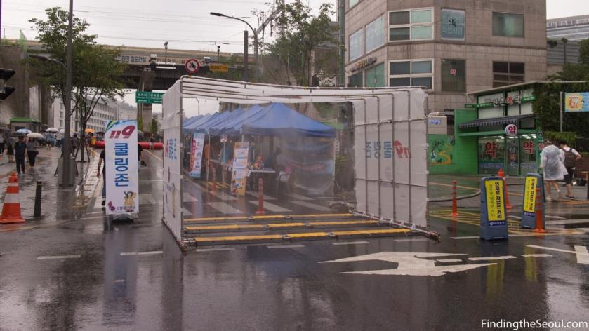 Sinchon Water Gun Festival 신촌 물총축제 Misting Walkway