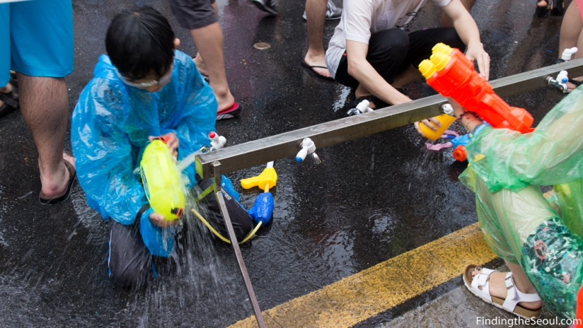 Sinchon Water Gun Festival 신촌 물총축제 Refill Station