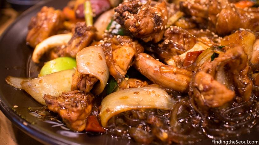 Ongdarae Braised Chicken 옹다래 찜닭 Close up