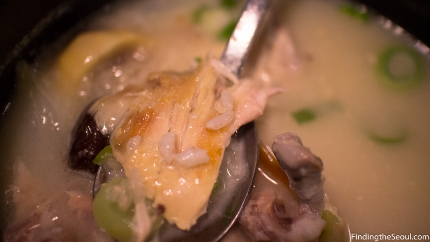 Ongdarae Braised Chicken 옹다래 찜닭 Samgyetang Close up